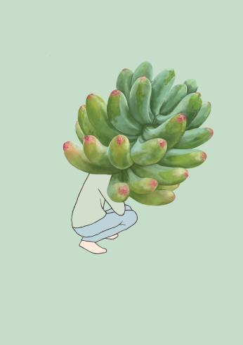 weird phallic plant digital drawing