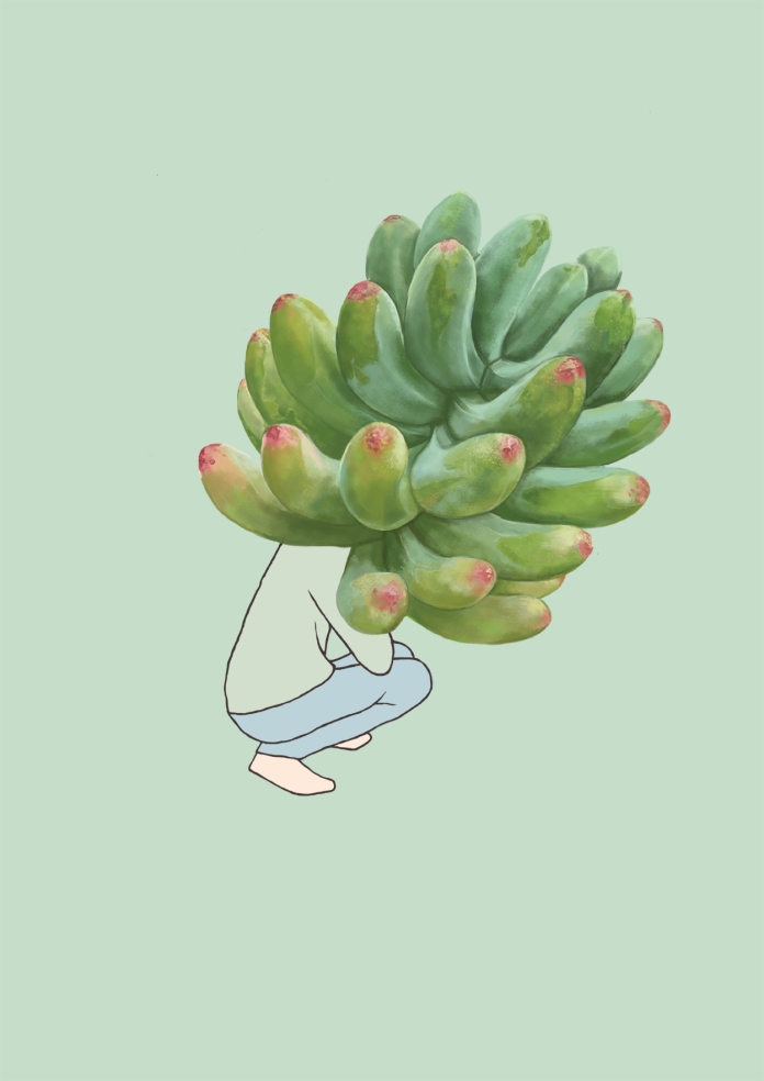 weird phallic plant digital drawing